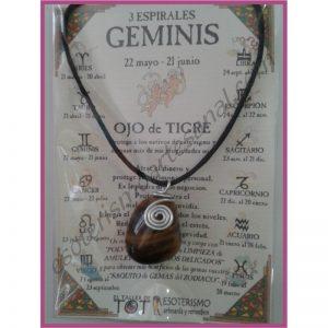 GÉMINIS - Colgante 3 ESPIRALES