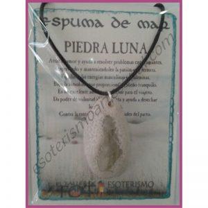 COLGANTE ESPUMA de MAR -*- PIEDRA LUNA