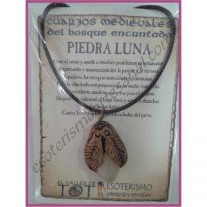 COLGANTE MEDIEVAL -*- PIEDRA LUNA