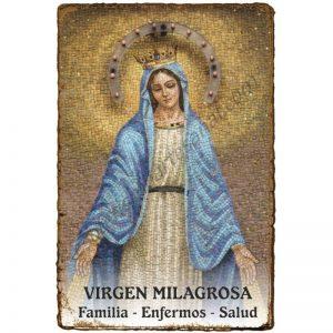 "Estampita ""Pergamino"" - FAMILIA y HOGAR - VIRGEN MILAGROSA"