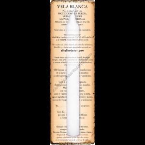 Vela BLANCA 20cm. con guía y oración
