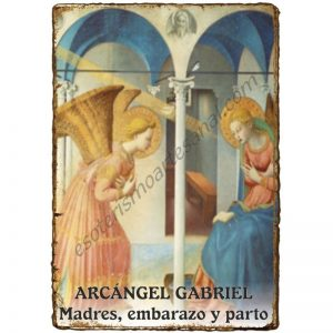 "LÁMINA A4 ""Pergaminada"" - SALUD - EMBARAZO - ARCÁNGEL GABRIEL"