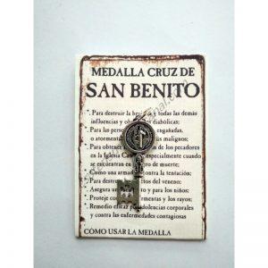 SAN BENITO - medalla cruz llave pequeña - colgante