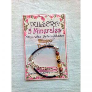 PULSERA 5 minerales - 6mm - DINERO - TRABAJO
