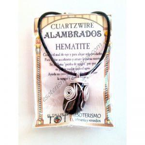 COLGANTE CUARTZWIRE ALAMBRADO - HEMATITE