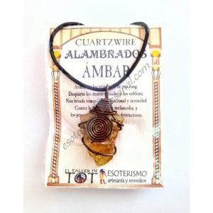 COLGANTE CUARTZWIRE ALAMBRADO - AMBAR
