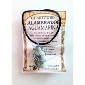 COLGANTE CUARTZWIRE ALAMBRADO - AGUAMARINA