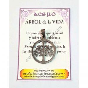 AMULETO ACERO -Arbol de la Vida - 05