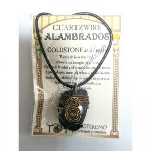 COLGANTE CUARTZWIRE ALAMBRADO - GOLDSTONE AZUL