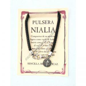 Pulsera NIALIA - MEDALLA CRUZ DE SAN BENITO - 02