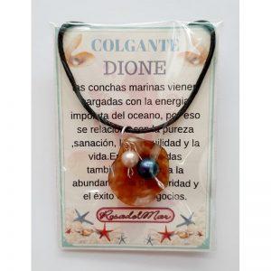 COLGANTE DIONE - CONCHA con PERLAS